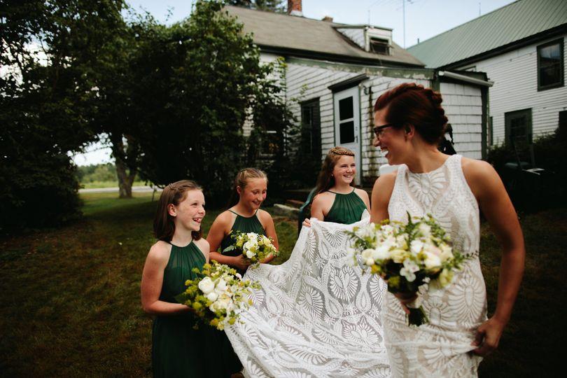 Maine Farmhouse wedding