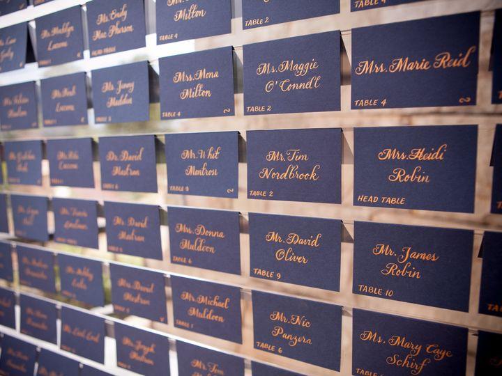 Tmx 1508874278045 Navy Escort Cardsrose Gold Calligraphycloud 9 Denver wedding planner
