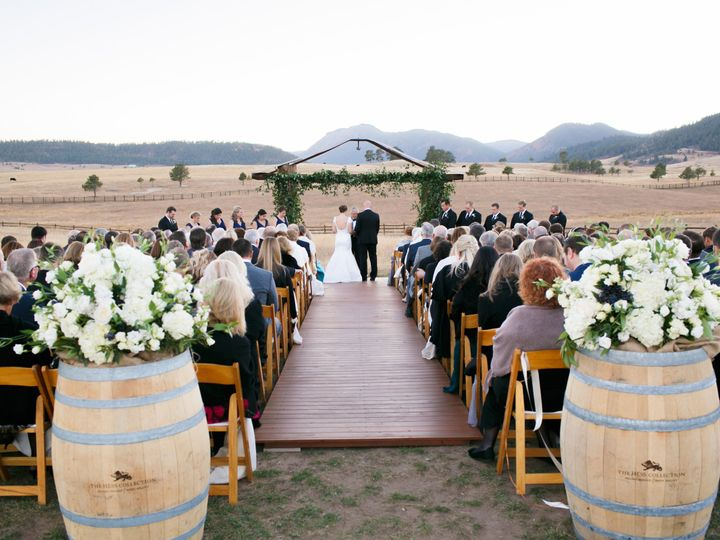 Tmx 1508874532198 Treys Vista Wedding Ceremonybarrel Entrance Pieces Denver wedding planner