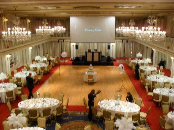 The Grand Ballroom at the Drake Chicago. We provided sound and projected slides, photos, and music...