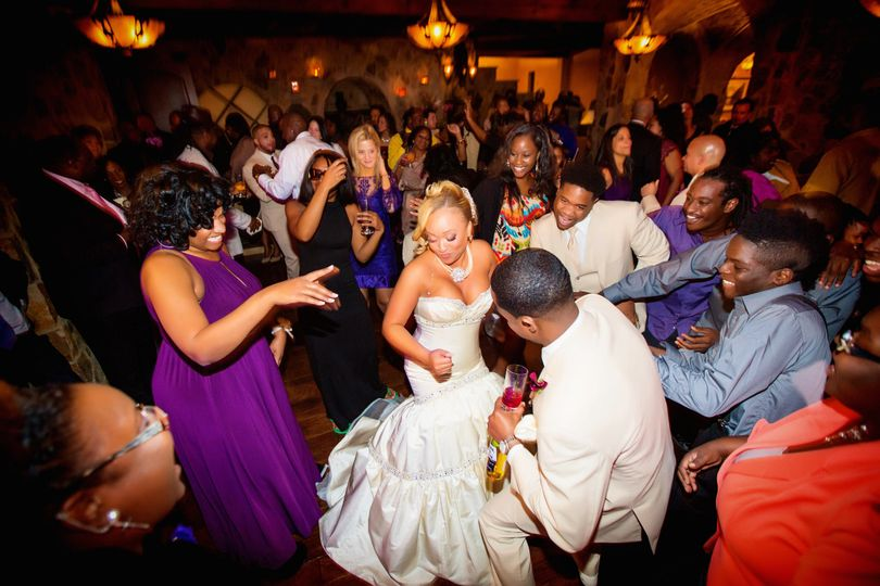 Wedding crowd on the dance floor