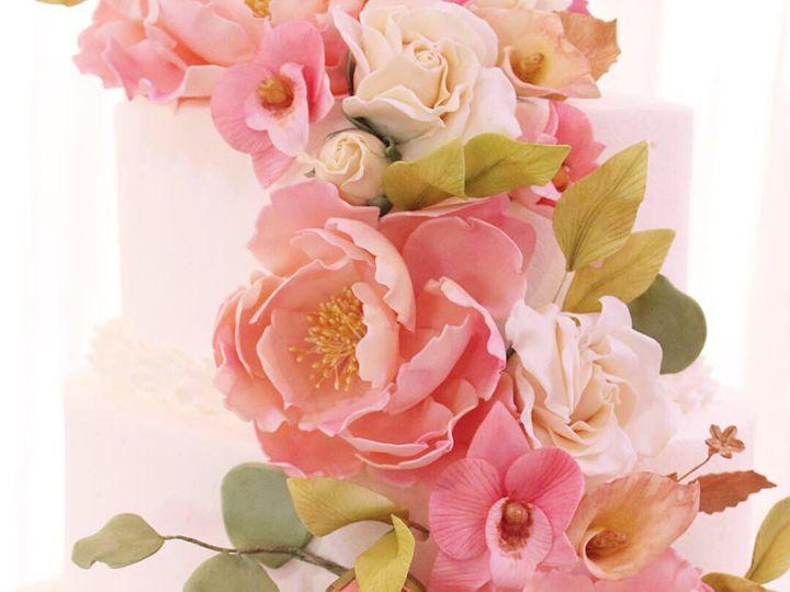 Tmx Pink Cascade 2 51 1076089 1562610362 Liberty, NY wedding cake