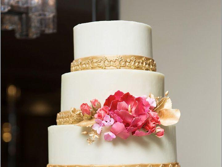 Tmx Sugar Peony With Gold Border 51 1076089 1562610167 Liberty, NY wedding cake