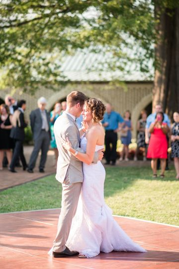 Wedding Reception in the South Courtyard at The Mariners Museum and Park