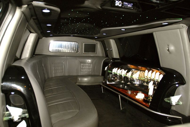 **Black Excursion SUV Limousine** (Interior)
