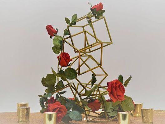 Geometrical floral arrangement