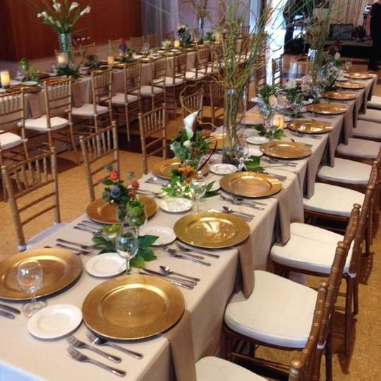 Banquet seating reception