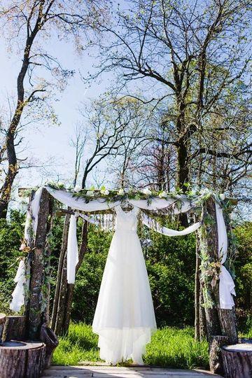 The bride's perfect dress