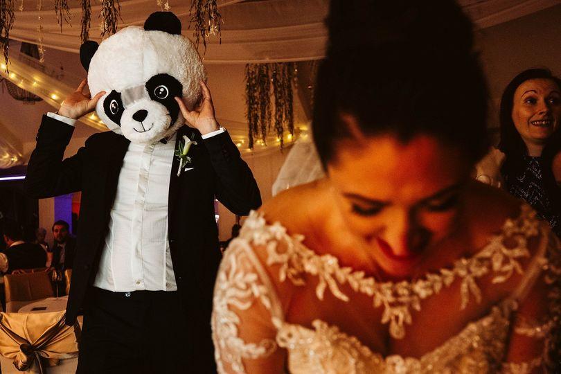 Panda groom