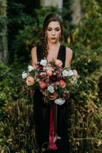 Dark themed bouquet