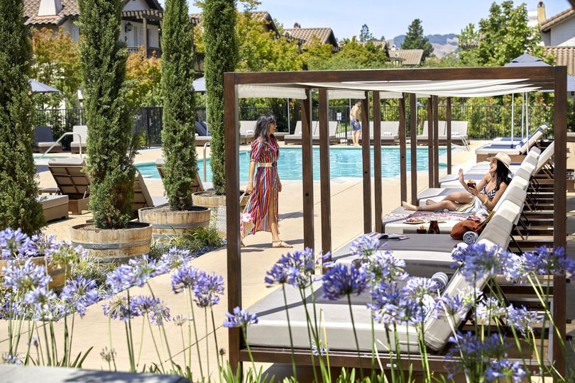 Pool Cabanas at The Lodge