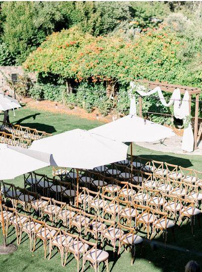 Ceremony setup at Stone Lawn