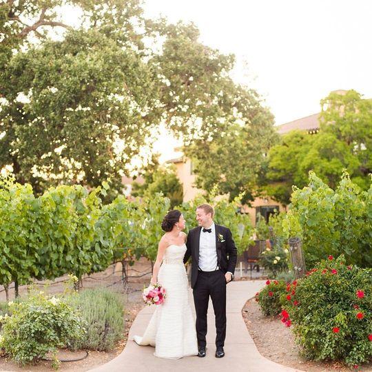 Newlyweds at the vineyard