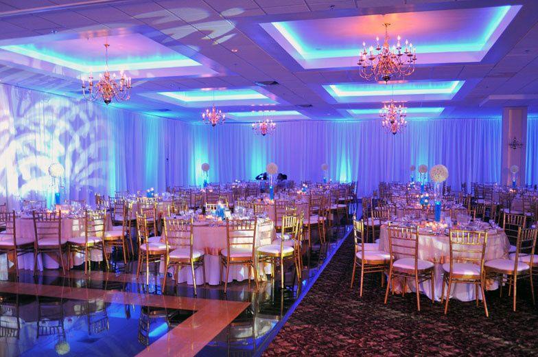 Blue lights setup