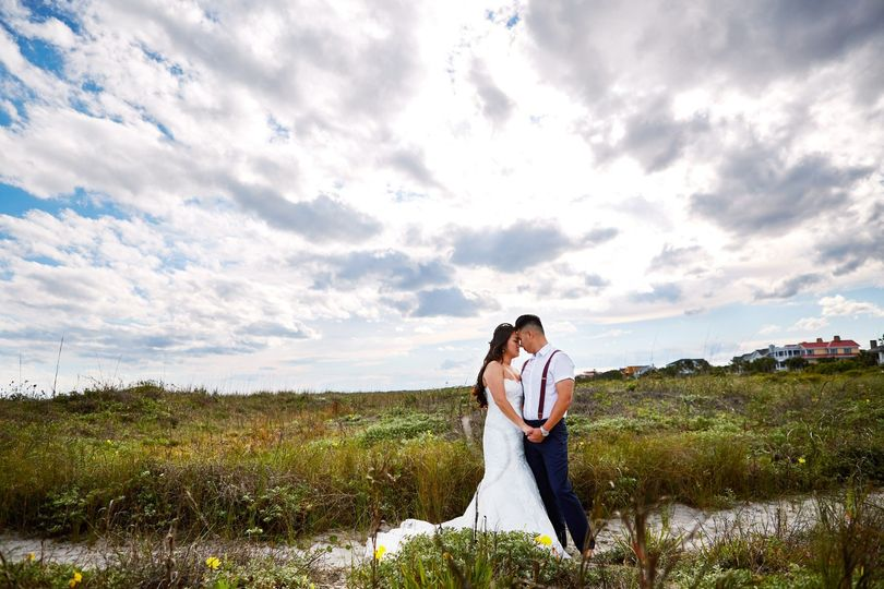 Isle of Palms bride and groom