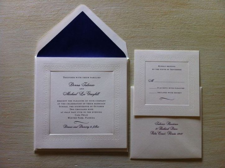 Thick invitation package