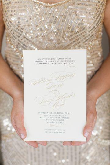 allison ducey wedding invitation