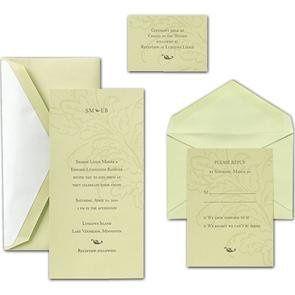 Tmx 1246313057861 CraneWasabiLeafinvite Winter Park, Florida wedding invitation