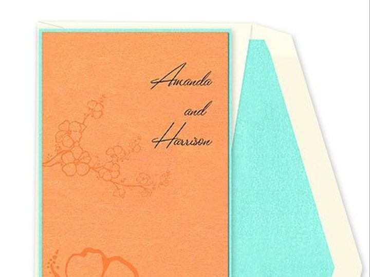 Tmx 1267757320121 CheckerboardHisbiscuswedding Winter Park, Florida wedding invitation