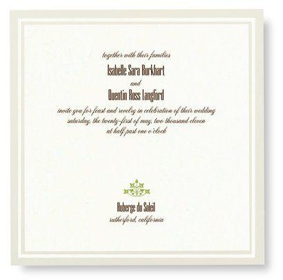 Tmx 1273784689299 RitaRenningWeddingInvite5 Winter Park, Florida wedding invitation