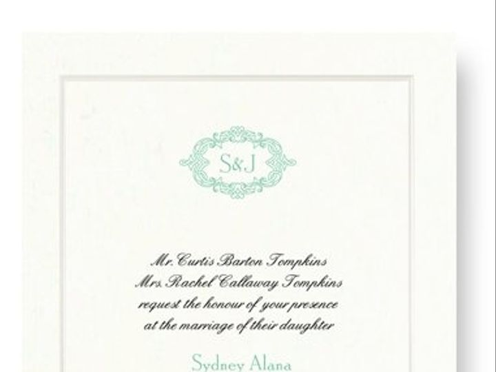 Tmx 1273784694799 RitaRenningWeddingInvite1 Winter Park, Florida wedding invitation
