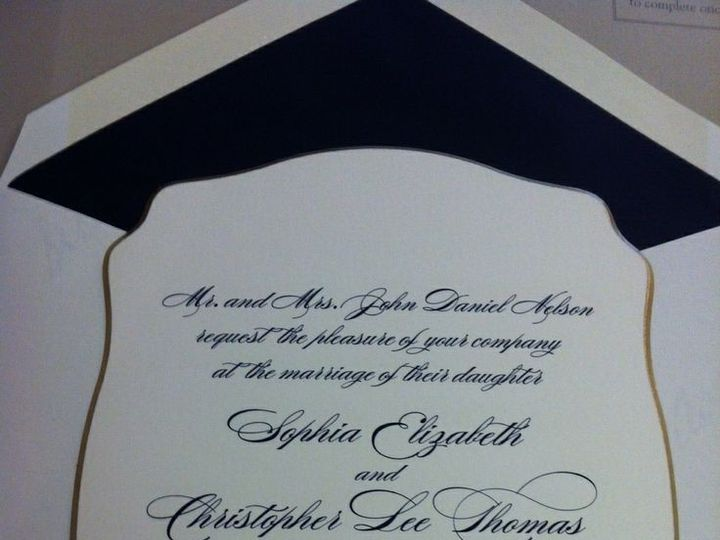 Tmx 1400089302370 1b3e252f8af7be40e8ccab401568c04 Winter Park, Florida wedding invitation
