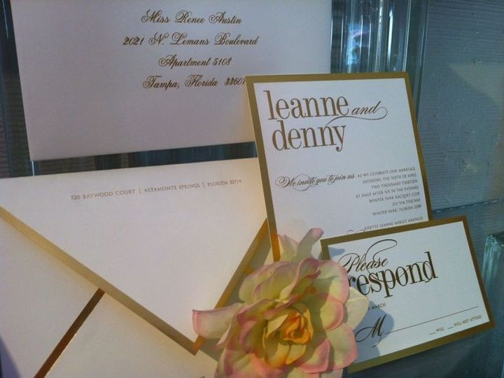 Tmx 1400089318279 586b2e1145973ae7aded80659ac733b Winter Park, Florida wedding invitation