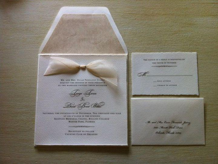 Tmx 1400089336765 Add0273f8595b3fb75f72cc65b8f690 Winter Park, Florida wedding invitation