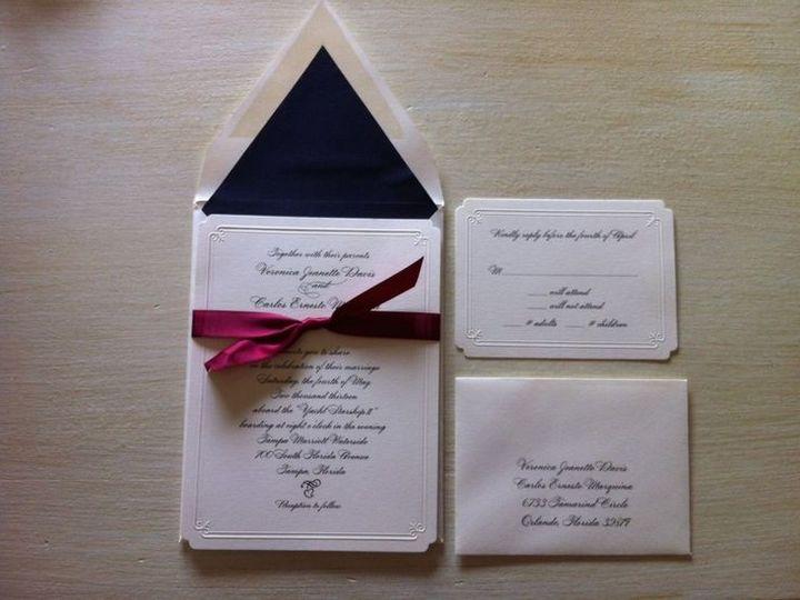 Tmx 1400089338895 B92a2568b3600edcb2eb80d3f8836d1 Winter Park, Florida wedding invitation