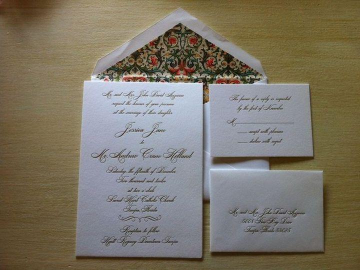 Tmx 1400089344151 Ba823f1e38b0030da7aa656e828665c Winter Park, Florida wedding invitation