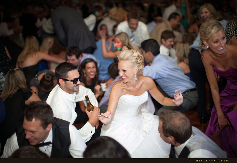 groom bride flash mob dancing receptio