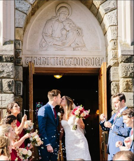 Wedding kiss | Elizabeth Mae Photography