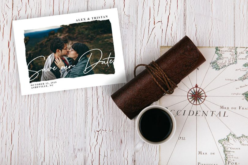 Mountain view save-the-dates