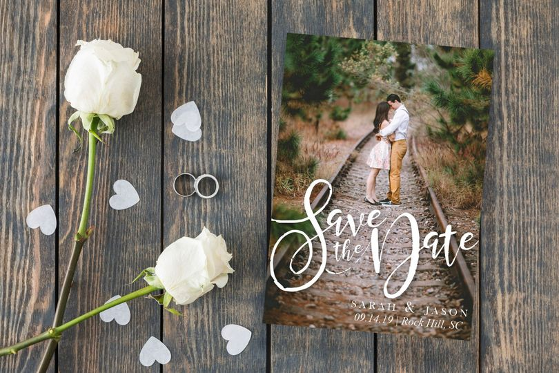 Track to love save-the-dates