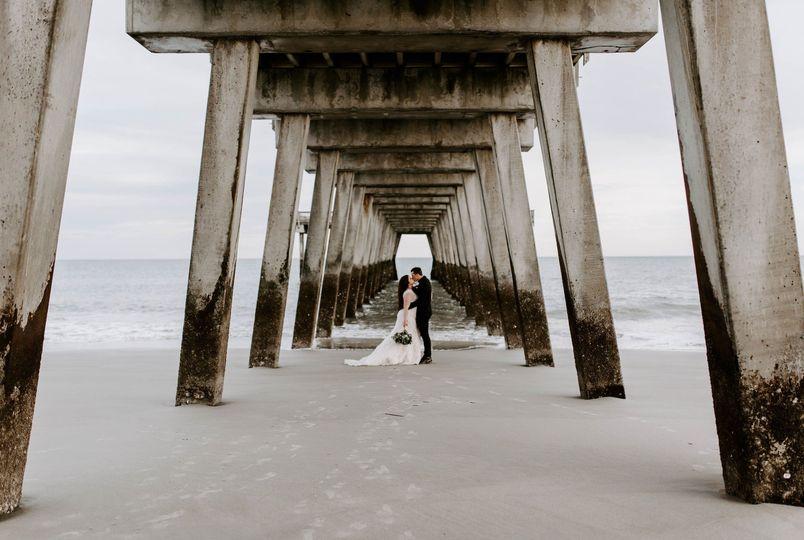 Bride + Groom at Tybee Island
