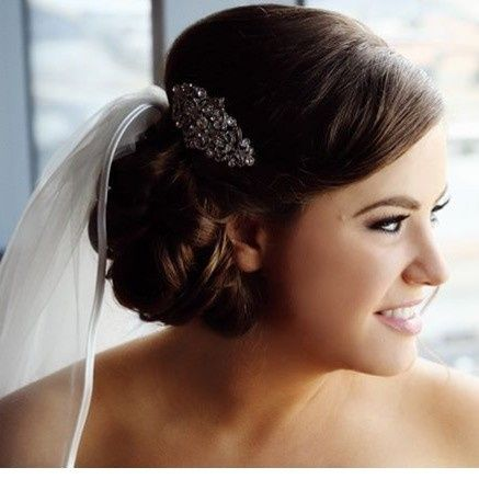 Neat wedding updo