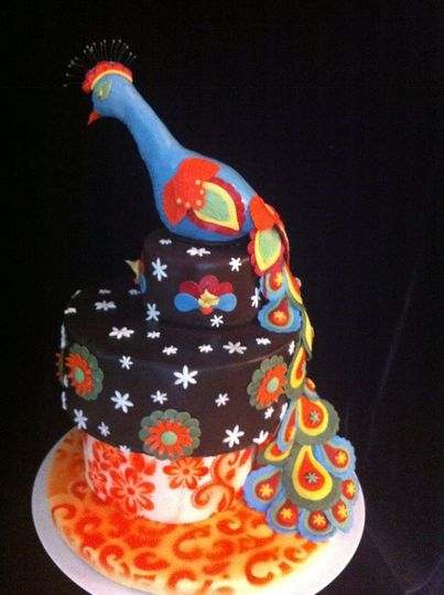 Colorful bird cake