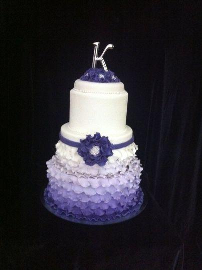 Purple gradient cake