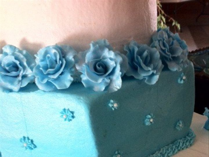 Tmx 1340581923009 BlueandWhite San Antonio, TX wedding cake