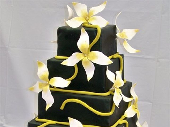Tmx 1357791283352 SquareWeddingCake15 San Antonio, TX wedding cake