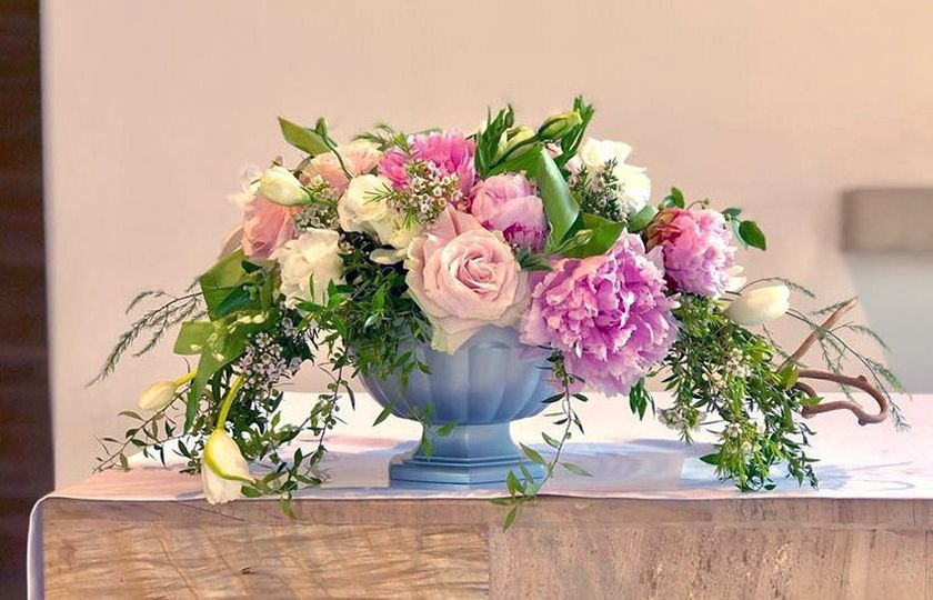 Peonies Center Piece