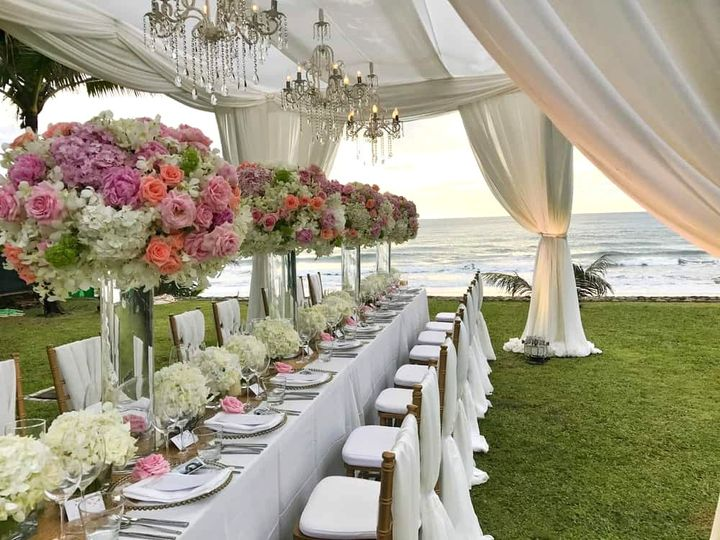 Center Pieces at the ocean