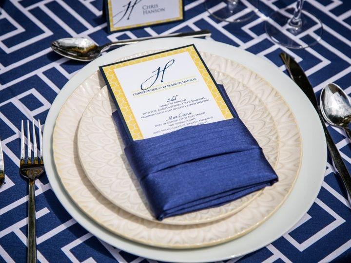 Tmx 1428354886801 Navy Blue Wedding Table Setting Morrisville wedding invitation