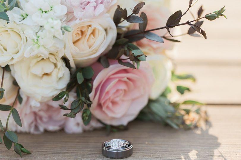 Closeup of wedding bands