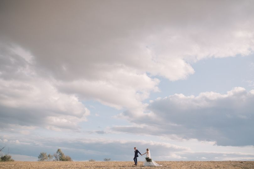 Couple with magical clouds