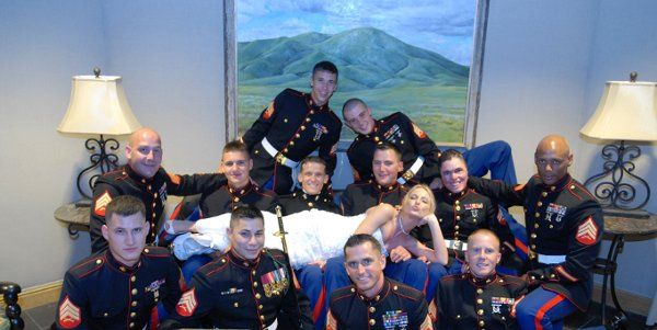 Marine wedding - discount for members of the armed services