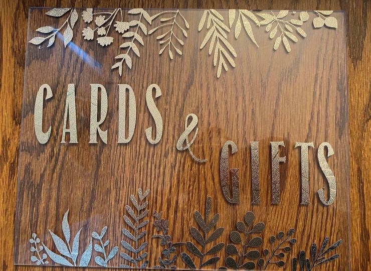 Card and gift acrylic sign