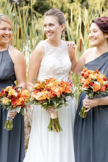 Harvest inspired bouquets