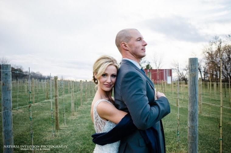 Farron & Jason in Whistler's Vineyard | Photo credit to Natural Intuition Photography