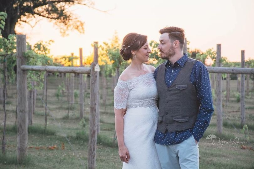Molly & Andy in Whistler's Vineyard | Photo credit to Kyra Rane Photography